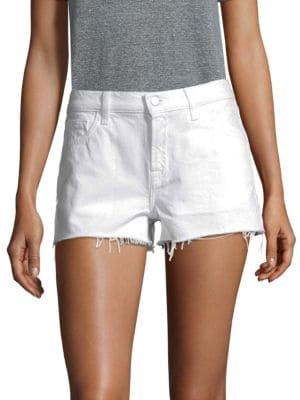 Low-Rise Released Hem Shorts