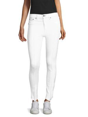 High Rise Pintuck Jeans