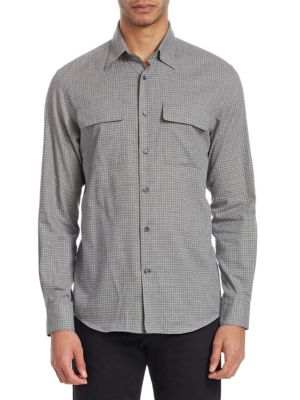 Checked Button-Front Shirt