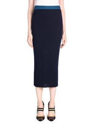 Rib-Knit Pencil Skirt