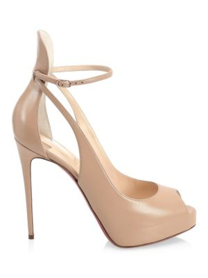 Mascara Peep Toe Pumps by Christian Louboutin