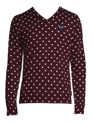 Black Heart Wool Polka Dot Sweater