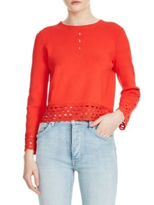 Mariade Eyelet Sweater