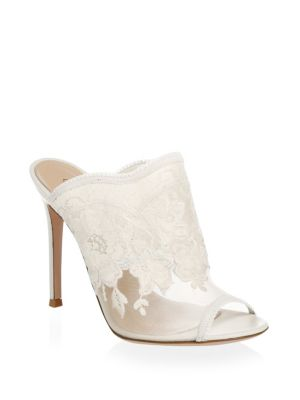 Sheer Lace Mules