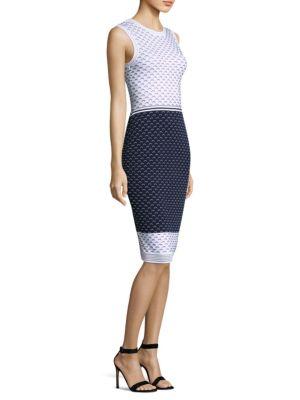 Graphic Ripple Sheath Dress