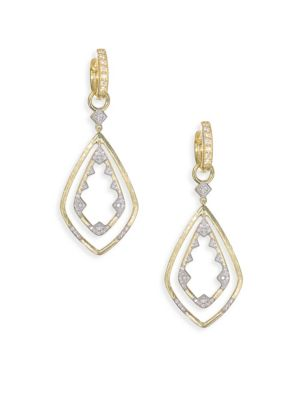 Lisse Diamond & 18K Yellow Gold Double Drop Kite Earring Charms