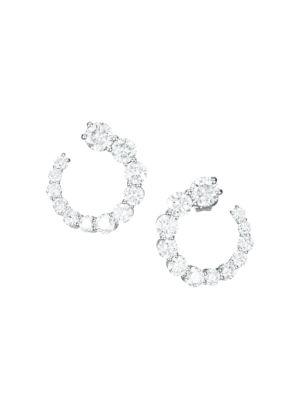 Aria 18K White Gold & Diamond Wrap Hoop Earrings