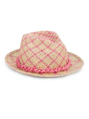 Louis Pink Woven Fedora from Saks Fifth Avenue