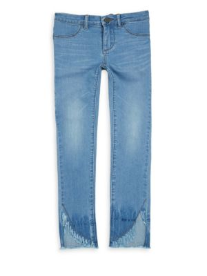 Girl's Sun Bleached Straight-Leg Jeans