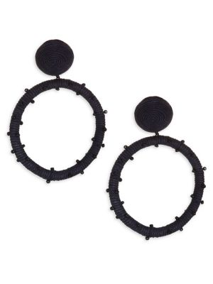 Dotted Clip-On Hoop Earrings