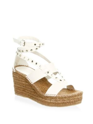 Studded Wedge Espadrilles