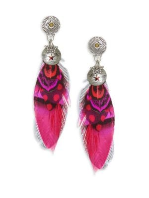 24K Gold Plated Feather Earrings