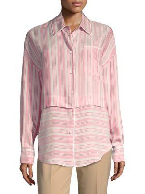 Salmon Stripe Shirt