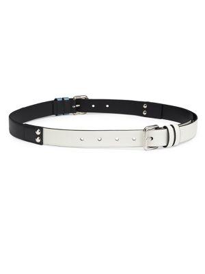 Leather Colorblock Belt
