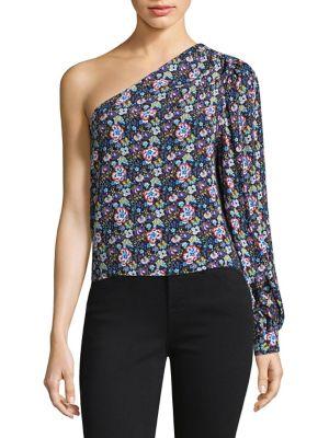 One-Shoulder Floral Top