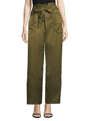 Taffeta Drawstring Pants