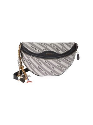 EXTRA SMALL SOUVENIR LOGO BELT BAG - GREY