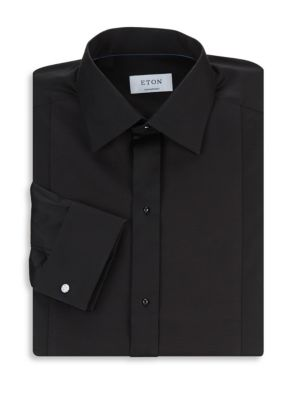 Contemporary-Fit Diamond Piqué Dress Shirt