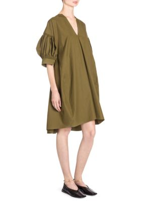 Ruched Cotton Poplin Tunic