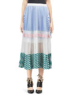 Multi Stripe Midi Skirt