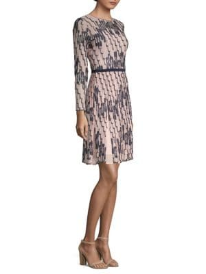 Bicolor Wave Print Dress