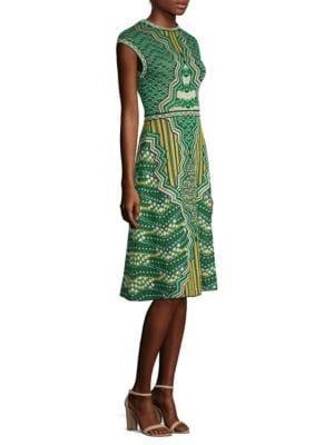 Graphic Jacquard A-Line Dress