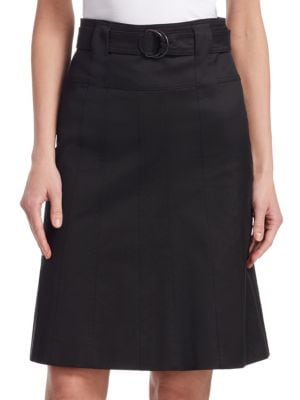 Top Quality For Sale A-Line Belted Knee-Length Cotton Skirt Akris Cheap Official Sale Cheap Price Cheap Best 8hzSAb5Rs