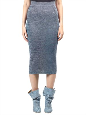 Fit Knit Flare Pencil Skirt