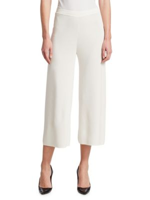 Cropped Pull-On Pants