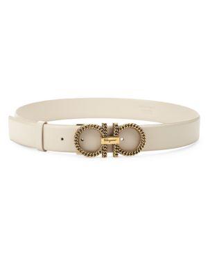 New Gancini Chain Leather Belt