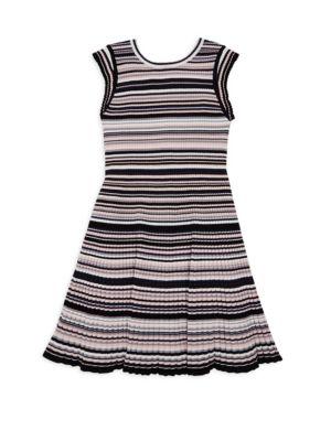Girl's Striped Flare Dress