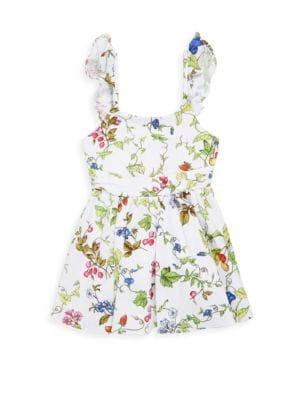 Toddler's, Little Girl's & Girl's Floral-Print Maggie Dress