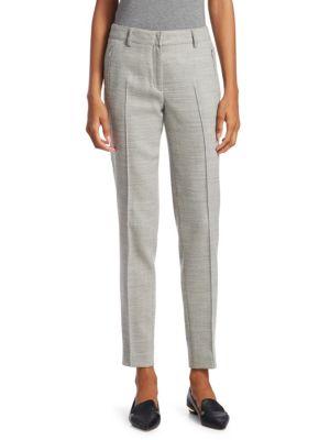 Birdseye Fabia Knit Stretch Wool Trousers