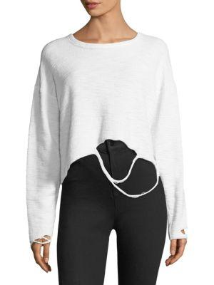 TWENTY Distressed Jersey Sweater