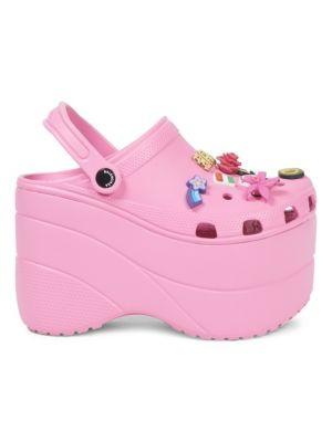 Pink Foam Platforms With Charms