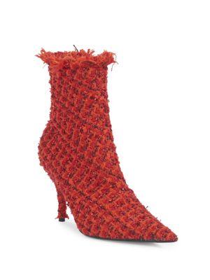 Stiletto Heel Tweed Booties
