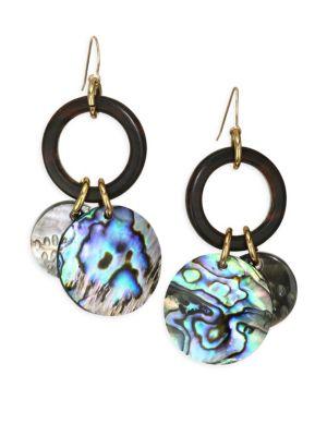 Abalone Charm Drop Earrings