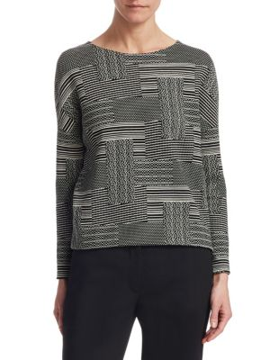 Patchwork Jacquard Boxy Top