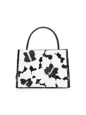 MINI CROCODILE WALLIS FLORAL MINI BAG