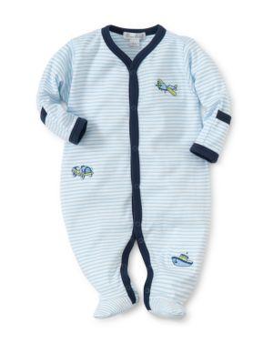 Baby's Away We Go Stripe Footie