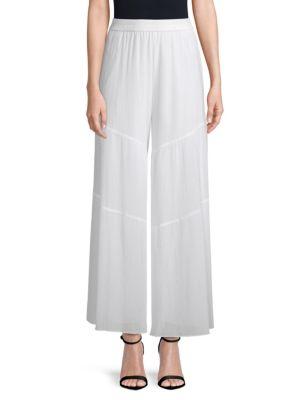 Diana Crinkle Wide-Leg Pants