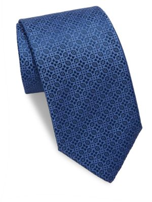 Alternating Patterned Silk Tie