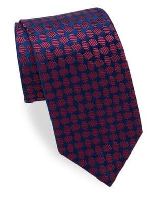 Oval Pattern Silk Tie