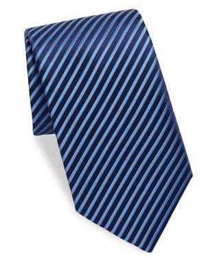 CHARVET | Striped Silk Tie | Goxip