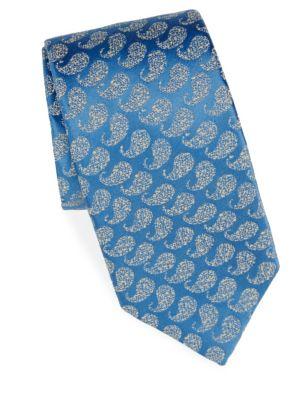 Jacquard-Print Silk Tie