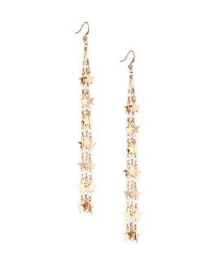 Starstruck Goldtone Tassel Earrings