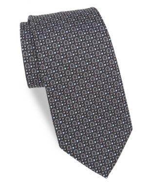 Silk Four Square Gancini Tie