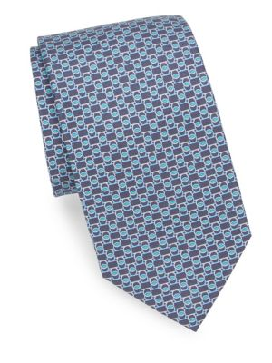 Interlock Gancini Silk Tie