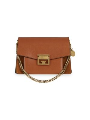 SMALL GV3 LEATHER & SUEDE CROSSBODY BAG - BROWN