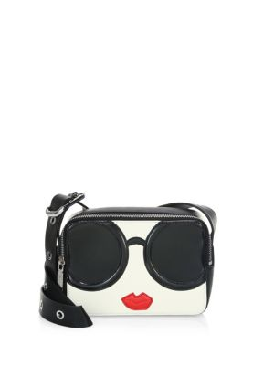 Stace Face Leather Mini Crossbody Bag